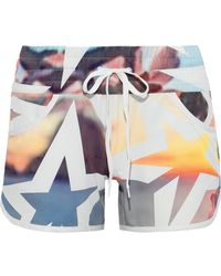 Perfect Moment Printed Shell Shorts - Multicolor