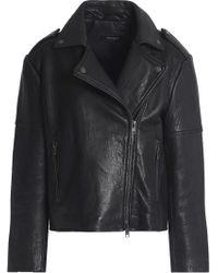 Muubaa - Textured-leather Biker Jacket - Lyst