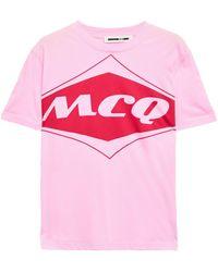McQ Band Pink Cotton T-shirt