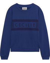 Cecilie Copenhagen Cecilie Copenhagen Ila Printed Organic French Cotton-terry Sweatshirt - Blue