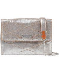 Lanvin - Quilted Metallic Cracked-leather Shoulder Bag - Lyst