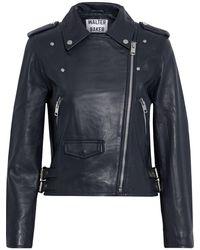 Walter Baker Liz Leather Biker Jacket - Blue