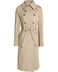Sandro - Double-breasted Cotton-gabardine Trench Coat - Lyst