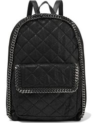 Stella McCartney - Quilted Faux Brushed-leather Backpack - Lyst