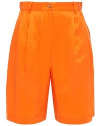 Maje Ishou Shorts Aus Glänzendem Twill - Orange