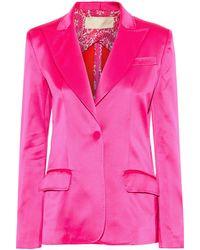 Antonio Berardi Silk-satin Blazer Bright Pink
