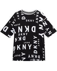 DKNY Leaving Our Mark Logo-appliquéd Leopard-print Cotton-blend Jersey Pyjama Top - Black