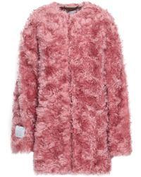 Stella McCartney Mohair, Cotton And Wool-blend Coat Pink