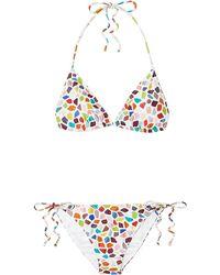 Missoni Mare Triangel-bikini Mit Print - Weiß