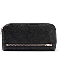 Alexander Wang Fumo Pebbled-leather Continental Wallet Black