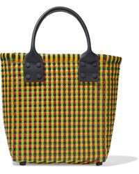 Truss Small Tote With Leather Handle - Yellow