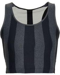 Sàpopa - Martina Cutout Mesh-paneled Striped Stretch Sports Bra - Lyst