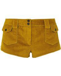 Saint Laurent Corduroy Shorts - Multicolour
