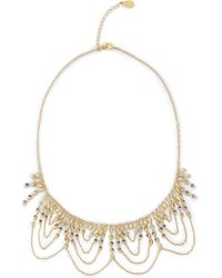 Noir Jewelry - Gold-tone Crystal Necklace - Lyst