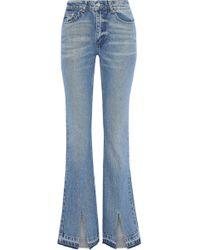 Anine Bing - Roxanne Faded High-rise Flared Jeans Mid Denim - Lyst