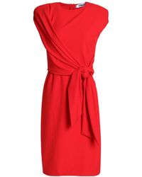Chalayan Wrap-effect Knotted Crepe Dress - Red