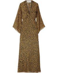 Michelle Mason Long Sleeve Plunge Gown - Multicolour