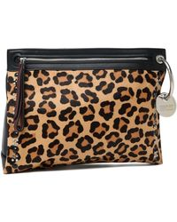 Marc By Marc Jacobs - Embellished Leopard-print Calf Hair And Leather Pouch Animal Print - Lyst
