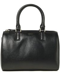 DKNY Bryant Medium Textured-leather Tote Black