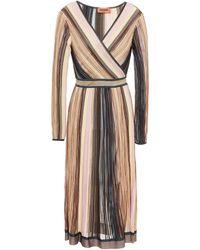 Missoni - Striped Ribbed-knit Midi Dress - Lyst