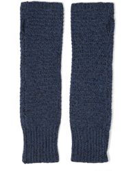 Duffy - Knitted Fingerless Gloves Storm Blue - Lyst