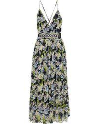 Marissa Webb - Deanna Pleated Floral-print Silk-chiffon Midi Dress - Lyst