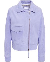 7 For All Mankind 7 For All Kind Suede Jacket Lavender - Multicolour