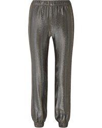 Haney Colette Silk-blend Lamé Track Trousers - Metallic