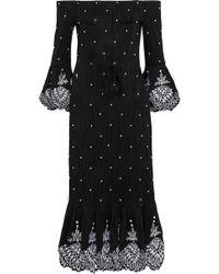 Prabal Gurung - Off-the-shoulder Flair Dress - Lyst