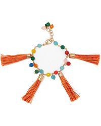 Rosantica - Tasseled Gold-tone Beaded Bracelet - Lyst