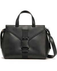 Christopher Kane Textured-leather Shoulder Bag Black