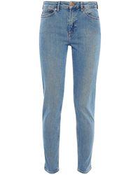 Samsøe & Samsøe Samsøe Φ Samsøe Faded Mid-rise Skinny Jeans - Blue