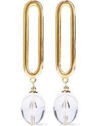 Ben-Amun - Woman Gold-tone Lucite Earrings Gold - Lyst