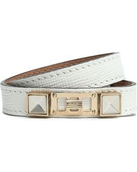 Proenza Schouler - Textured-leather, Silver And Gold-tone Wrap Bracelet - Lyst