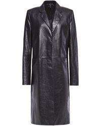Helmut Lang Leather Coat Black
