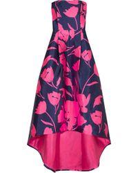 Noir Sachin & Babi | Anthurium Floral-print Satin-twill Gown | Lyst