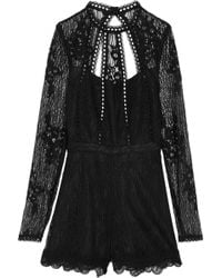 Alexis - Annora Cutout Lace Playsuit - Lyst