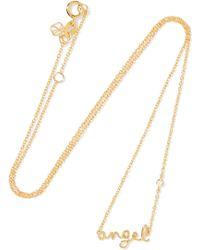 Shy By Sydney Evan - Gold-plated Diamond Necklace - Lyst