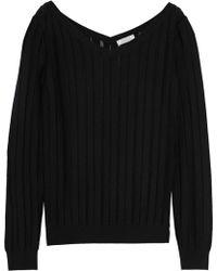 Nina Ricci - Ribbed Wool And Silk-blend Sweater - Lyst