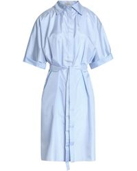 Nina Ricci - Belted Silk Shirtdress - Lyst