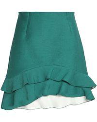 Sandro - Ruffled Pleated Crepe De Chine Mini Skirt - Lyst