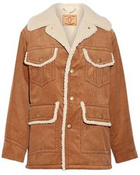 Marc Jacobs Faux Shearling-lined Cotton-corduroy Coat - Brown