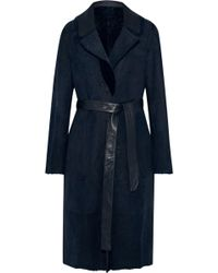 Yves Salomon - Reversible Suede And Shearling Coat - Lyst