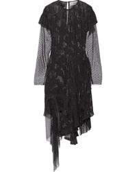 Preen By Thornton Bregazzi - Carly Swiss-dot Tulle-paneled Fil Coupé Chiffon Dress - Lyst