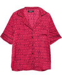DKNY Printed Crepe De Chine Pyjama Set Violet - Purple