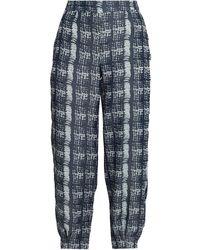 Amanda Wakeley Jacquard Tapered Pants - Blue