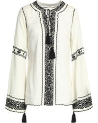 Talitha - Embroidered Crepe Tunic - Lyst