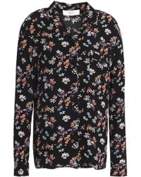 Vanessa Bruno Athé - Tiered Floral-print Crepe De Chine Skirt - Lyst