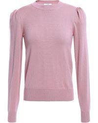 Co. Gathered Wool-blend Jumper Lavender - Pink