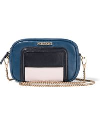 Missoni - Mini Color-block Leather Shoulder Bag - Lyst